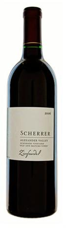 Scherrer Winery Zinfandel Old and Mature Vines Alexander Valley